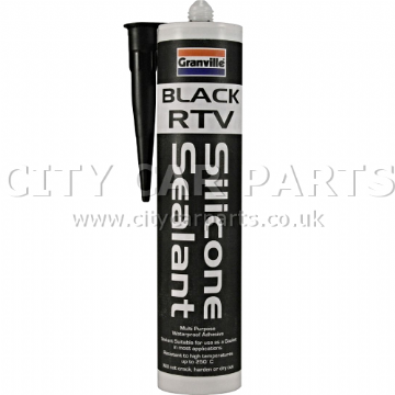 GRANVILLE BLACK RTV SILICONE SEALANT 310ML CARTRIDGE MULTI PURPOSE GASKET MAKER